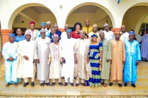 Group photograph of the members of the 3rd Governing Council with the University Management